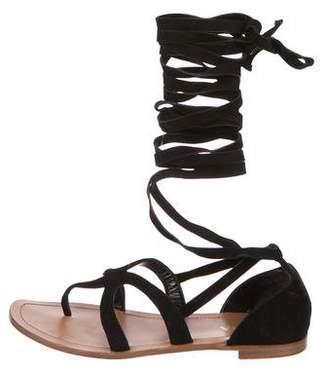 Prada Suede Gladiator Sandals
