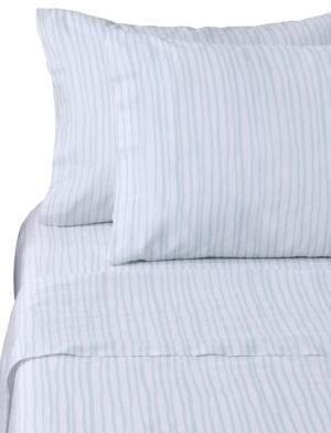 Bluebellgray Watercolor Stripe Cotton Pillowcase