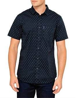 Armani Exchange Aix Yardage Print S/S Shirt