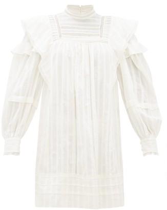 Etoile Isabel Marant Patsy Crochet Insert Cotton Voile Mini Dress - Womens - White