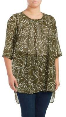 Junarose Plus Kennocha Roy Three-Quarter Sleeve Tunic