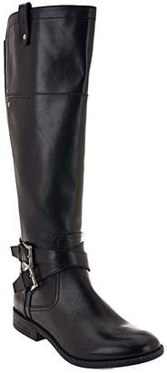 Marc Fisher Wide Calf Leather Riding Boots - Audrey