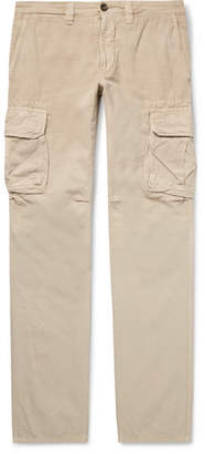 Incotex Slim-Fit Cotton and Linen-Blend Cargo Trousers - Men - Beige
