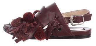 No.21 No. 21 Pom-Pom Leather Sandals
