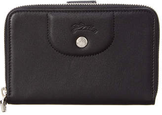 Longchamp Le Pliage Cuir Leather Compact Wallet
