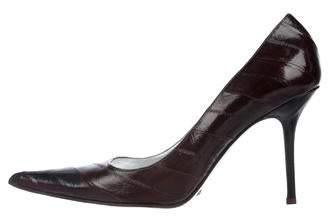 Dolce & Gabbana Eel Skin Pointed-Toe Pumps