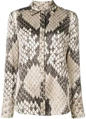 Roberto Cavalli snakeskin print shirt
