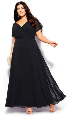 City Chic Citychic Sweet Wishes Maxi Dress - black