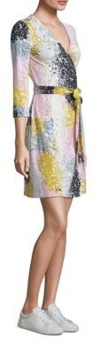 Diane von Furstenberg New Julian Two Silk Printed Wrap Dress $398 thestylecure.com