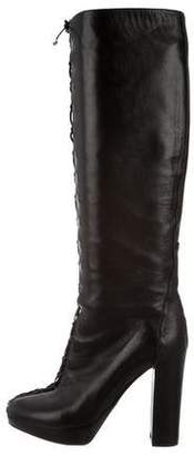 Christian Dior Lace-Up Knee-High Boots