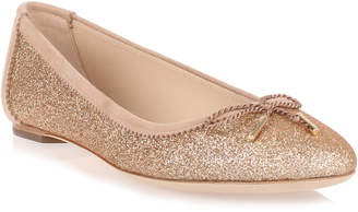 Salvatore Ferragamo Enea gold glitter ballerina