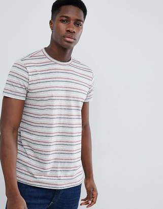 Esprit Multi Stripe T-Shirt In Grey