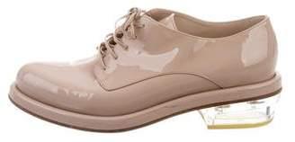 Simone Rocha Patent Leather Round-Toe Oxfords