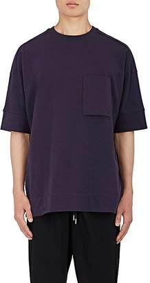 Helmut Lang Men's Oversized Stretch-Cotton Micro-Terry T-Shirt