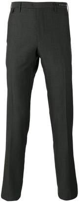 Pt01 patterned tapered tailored trousers