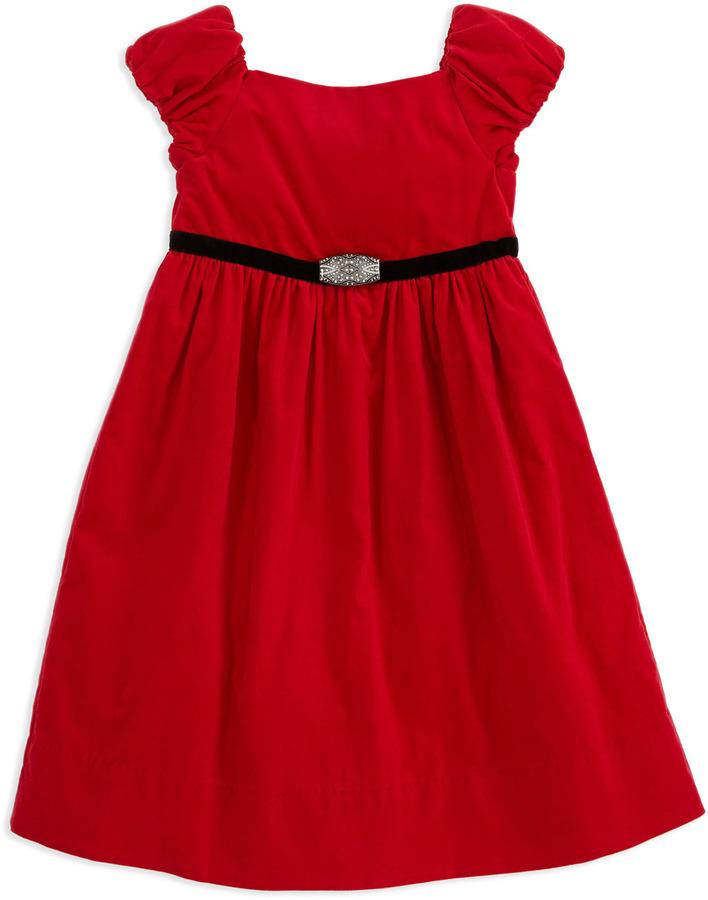 Ralph Lauren Corduroy Party Dress, Red