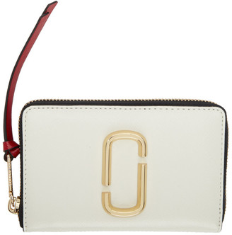 Marc Jacobs Off-White Small Snapshot Standard Continental Wallet