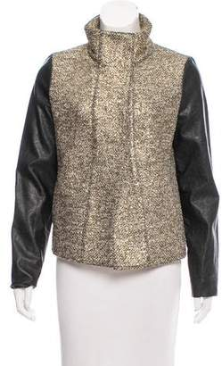 Generation Love Leather-Paneled Metallic Jacket