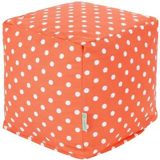 Majestic Home Goods Ikat Dot Indoor/Outdoor Ottoman Pouf Cube