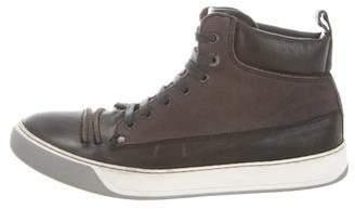 Lanvin Leather Chukka Boots