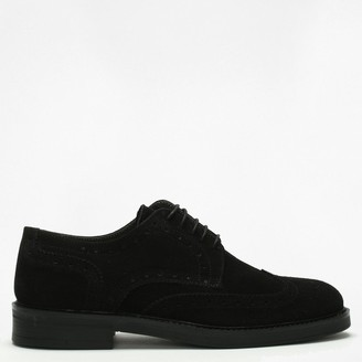 Daniel Black Suede Lace Up Brogues