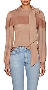 Ulla Johnson Women's Fabia Cashmere-Blend Tieneck Sweater - Rose
