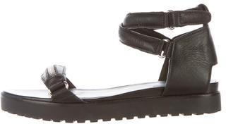 Alexander WangAlexander Wang Leather Platform Sandals