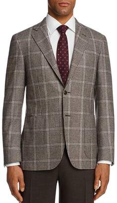 Canali Kei Houndstooth with Windowpane Classic Fit Sport Coat