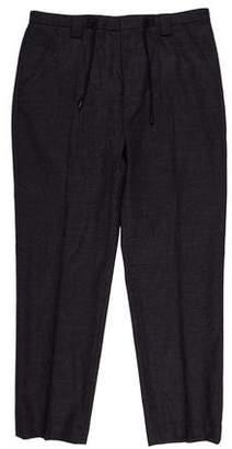 Maison Margiela Flat Front Wool Pants