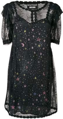 Moschino star print sheer dress