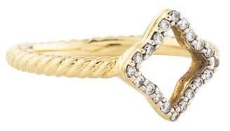David Yurman 18K Diamond Quatrefoil Ring