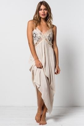 Tularosa Huntley Lace Maxi Dress in Black/Cream $169 thestylecure.com