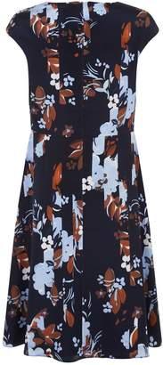 St. John Floral Print Mini Dress