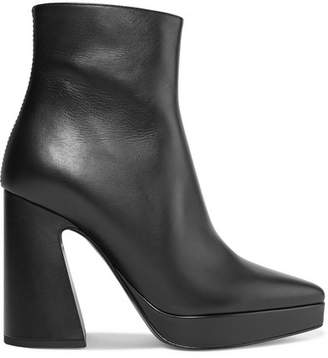 Proenza Schouler Leather Platform Ankle Boots - Black