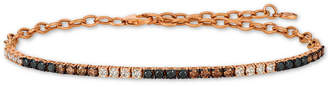 LeVian Le Vian Chocolate Layer Cake Tri-Color Diamond Bracelet (1-1/4 ct. t.w.) in 14k Rose Gold