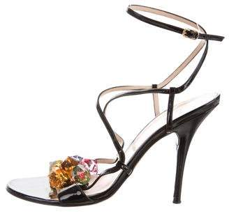 Casadei Ankle Strap Jewel-Embellished Sandals