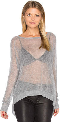 Autumn Cashmere Hanky Hem Boatneck Sweater in Gray $220 thestylecure.com