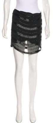 Haute Hippie Beaded Mini Skirt
