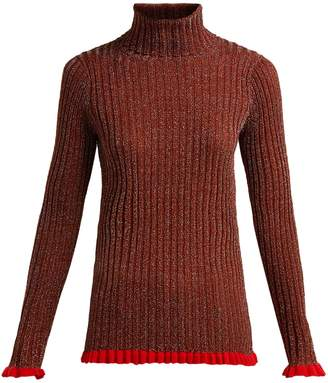 Chloé Ruffle-trimmed silk-blend sweater