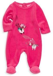 Catimini Baby Girl's Cotton-Blend Velvet Pajamas