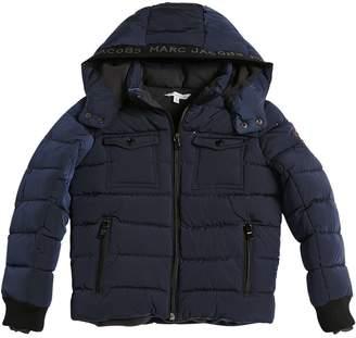 Little Marc Jacobs Hooded Nylon Puffer Jacket