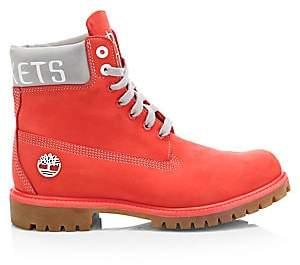 Timberland Men's NBA Collection Houston Rockets Lace-Up Leather Boots
