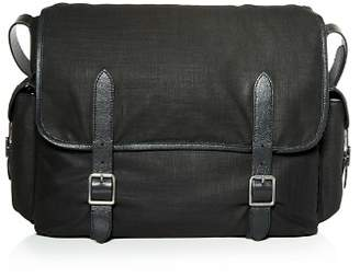 John Varvatos Militia Waxed Canvas Messenger Bag