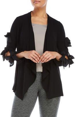 August Silk Bow Sleeve Open Cardigan