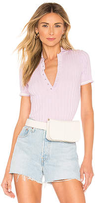 superdown Shania Ribbed Polo Top