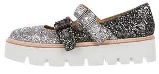 MM6 MAISON MARGIELA Glitter Round-Toe Flats