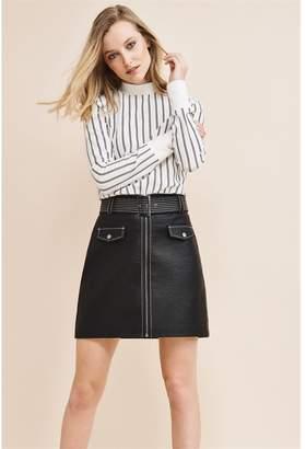 1fdd1151a6 Dynamite Faux Leather Mini Skirt - FINAL SALE Jet Black