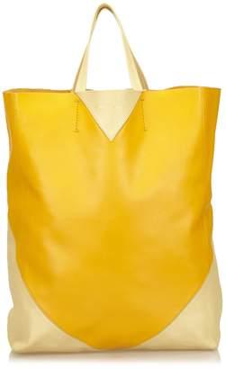 Celine Pre-Loved Orange Others Leather Vertical Cabas Tote France