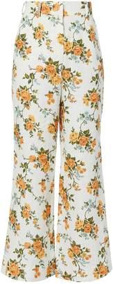 Zimmermann Golden Floral Crop Flare Pants