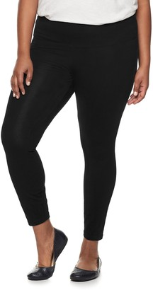 Croft & Barrow Plus Size Tummy Control Pull-On Leggings